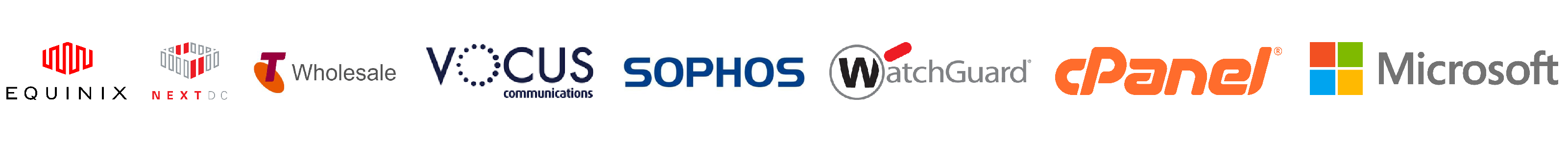 equinix nextdc telstra vocus sophos watchguard cPanel Microsoft web hosting